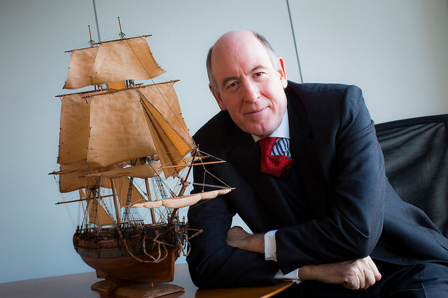 Miles Young, president of Friends of Hermione-Lafayette in America, photo courtesy of Association Hermione-Lafayette.