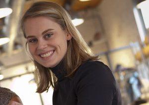 "Julia Brennan '17, co-curator of ""The New Mimesis"""